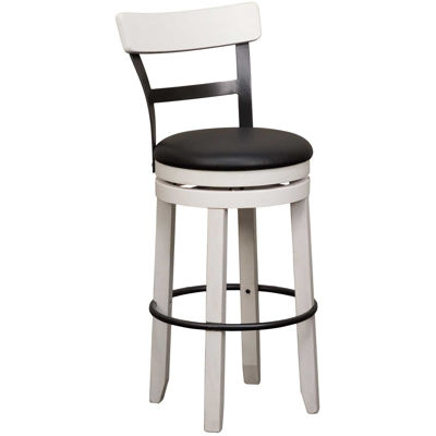 """Picture of Bourbon 30"""" Swivel Barstool with back"""