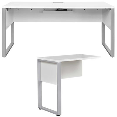 Picture of Fontana Return Desk, White