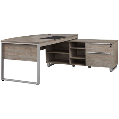 Picture of Fontana Executive Desk, Gray