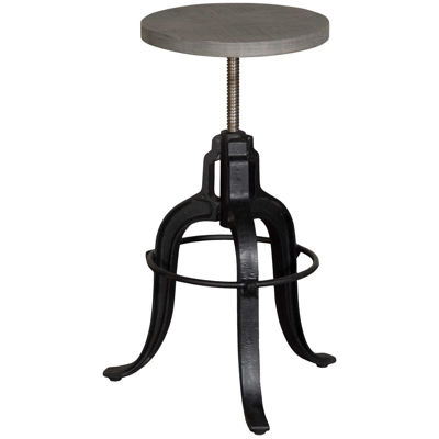 Picture of Grey Industrial Spin Seat Stool