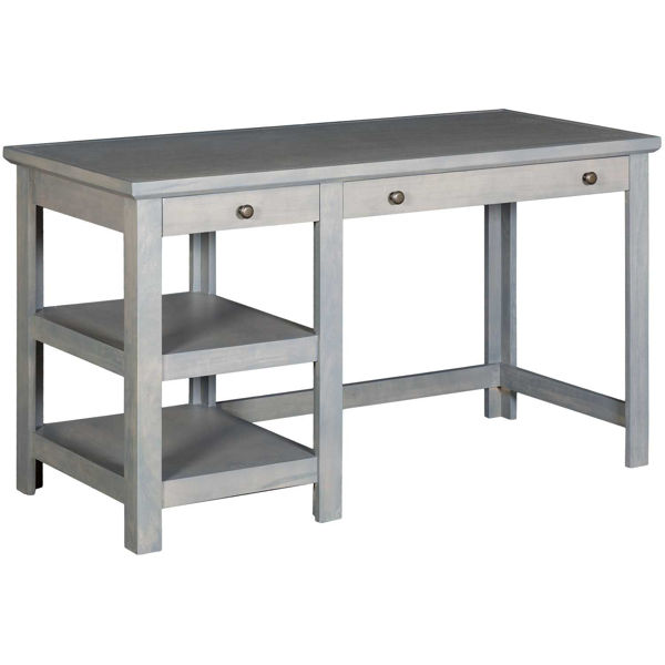 Picture of Gray 54-Inch Computer Desk