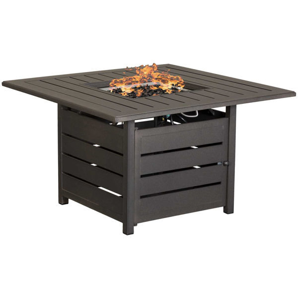 """Picture of Sorrento 42"""" Square Gas Fire Pit"""
