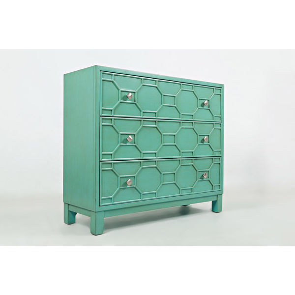 Picture of Matrix Three Drawer Cabinet in Turquoise