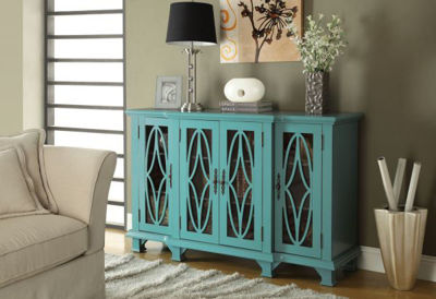 Picture of Accent Cabinet, Teal Blue *D