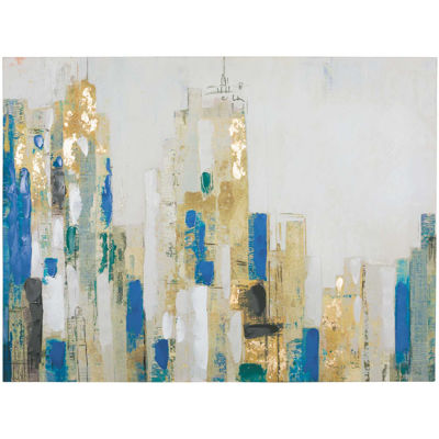 Picture of Blue Gold Street Canvas