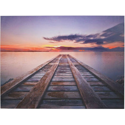 Picture of Pier With Wunset Canvas