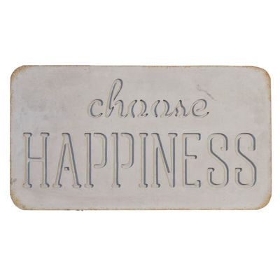Picture of Choose Happiness Concrete Sign