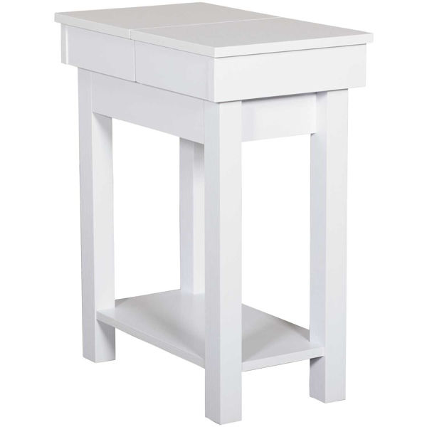 Picture of White Chairside Table
