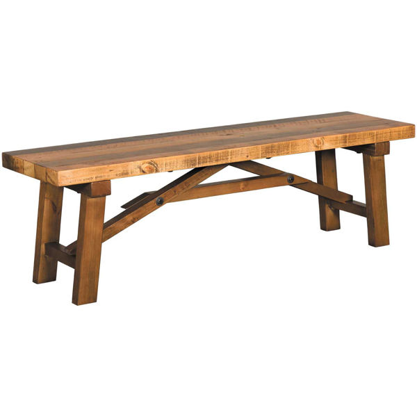 Picture of Valencia Natural Rustic Bench