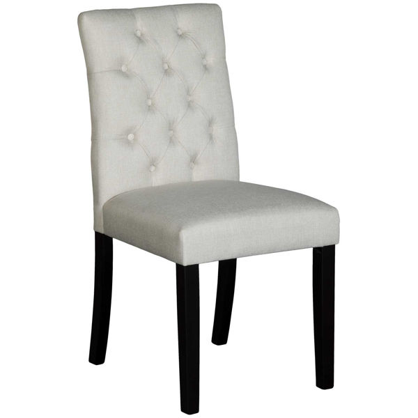 Picture of Julia Beige Tufted Accent Chair