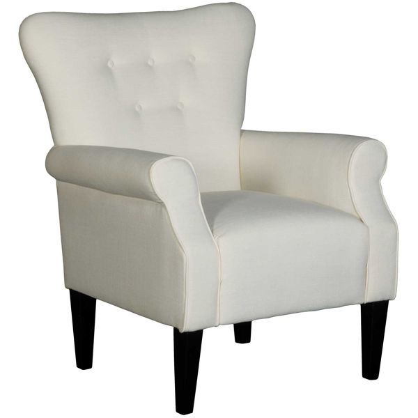 Picture of Beck White Accent Chair