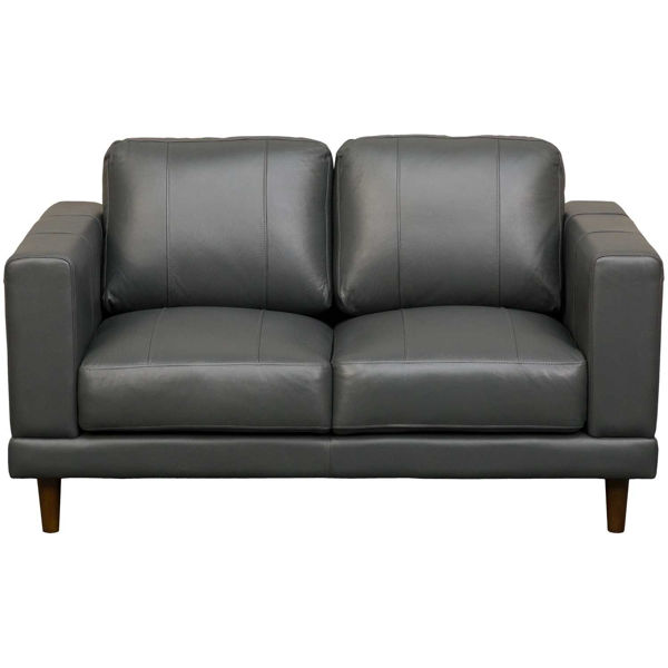 Picture of Hampton Charcoal Leather Loveseat