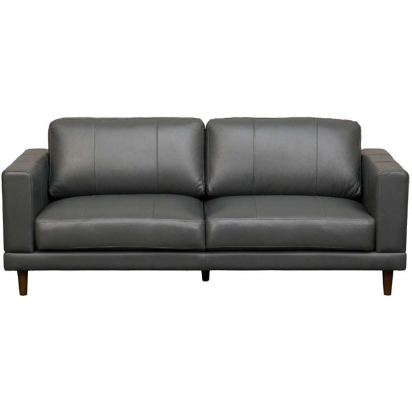 Picture of Hampton Charcoal Leather Sofa