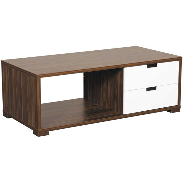 Picture of Dark Walnut and White Coffee Table