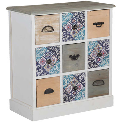 Picture of Patterned Wooden Accent Cabinet