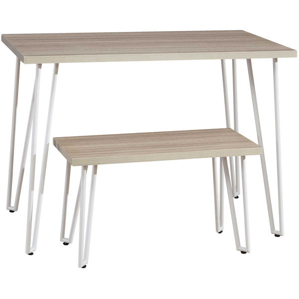 Picture of Blariden Natural and White Desk with Bench