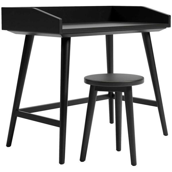 Picture of Blariden Metallic Gray Desk with Stool