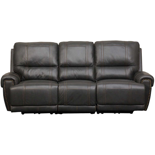 Picture of Drew Gray Leather Power Reclining Sofa