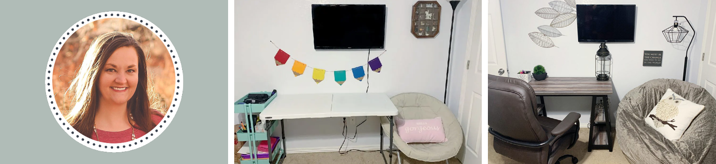 Blogger Spotlight | Teacher's Industrial Home Office Makeover with Laura Funk