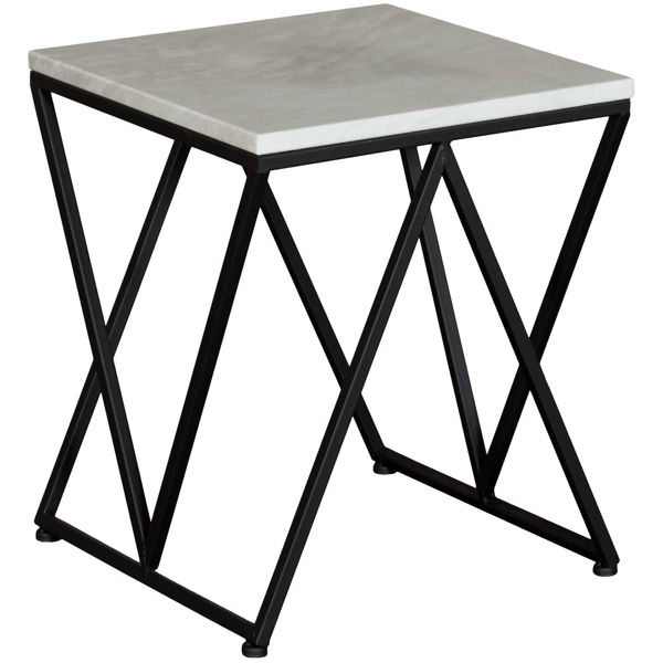 Picture of Square Marble Accent Table