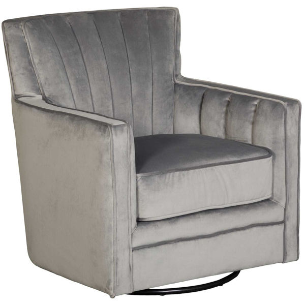 Picture of Loden Ash Gray Swivel Chair