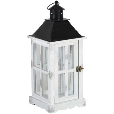 Picture of White Wooden Lantern