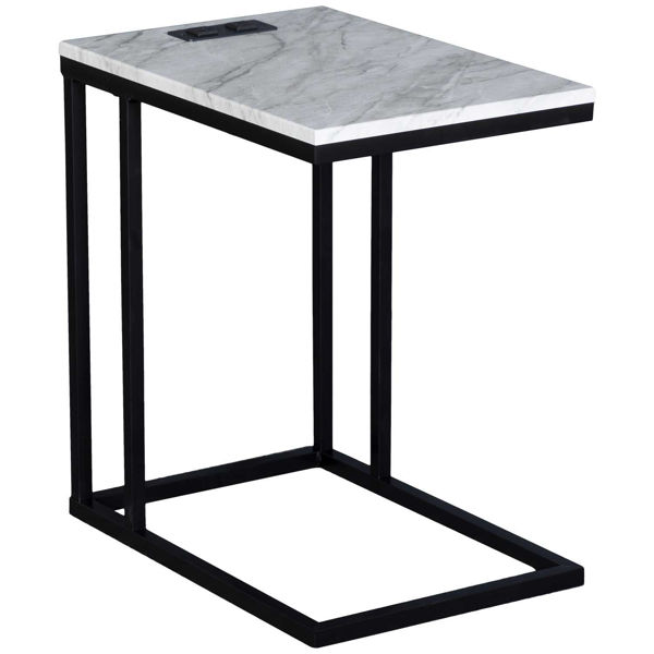 Picture of Norwich White Marble C-Table