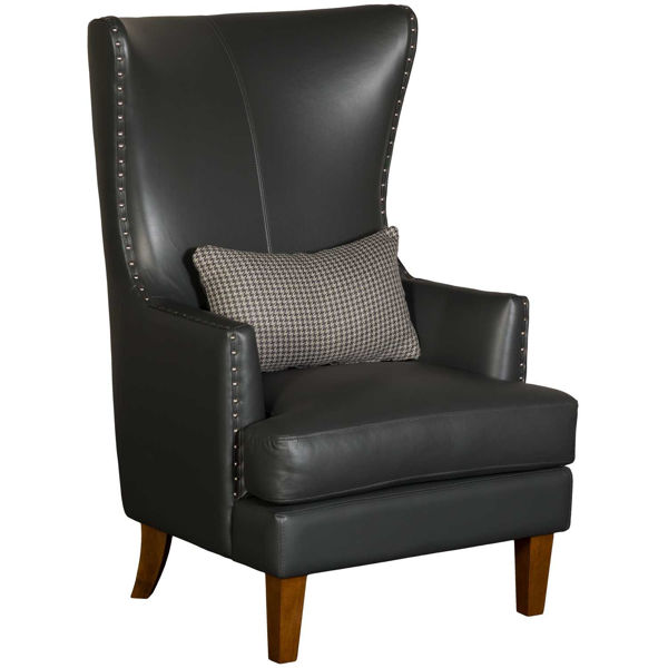 Picture of Kori Charcoal Leather Chair
