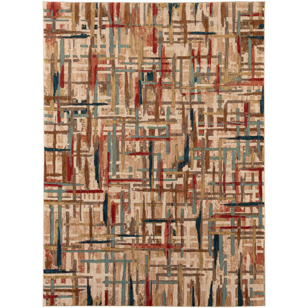 Picture of Painted Tapestry Multi 5x8 Rug