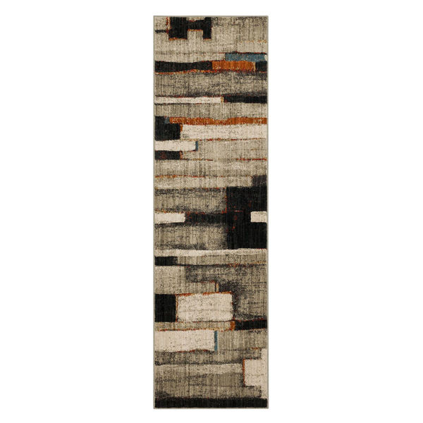 Picture of Compose Charcoal 2x7 Rug