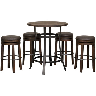 Picture of Metroflex 5 Piece Set with Backless Barstools