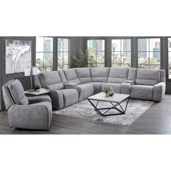 Picture of River Gray 7PC P2 Reclining Sectional
