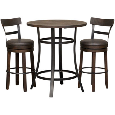 Picture of Metroflex 3 Piece Set with swivel barstools with b