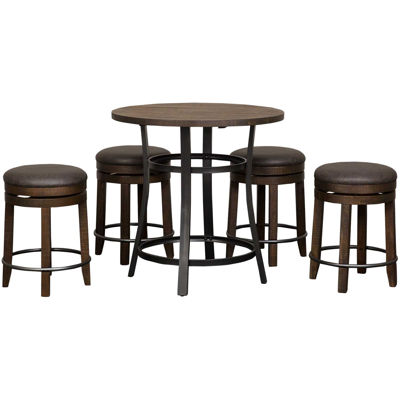 Picture of Metroflex 5 Piece Set with backless stools