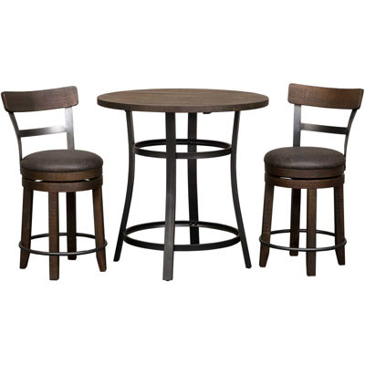 Picture of Metroflex 3 Piece set with swivel stools with back