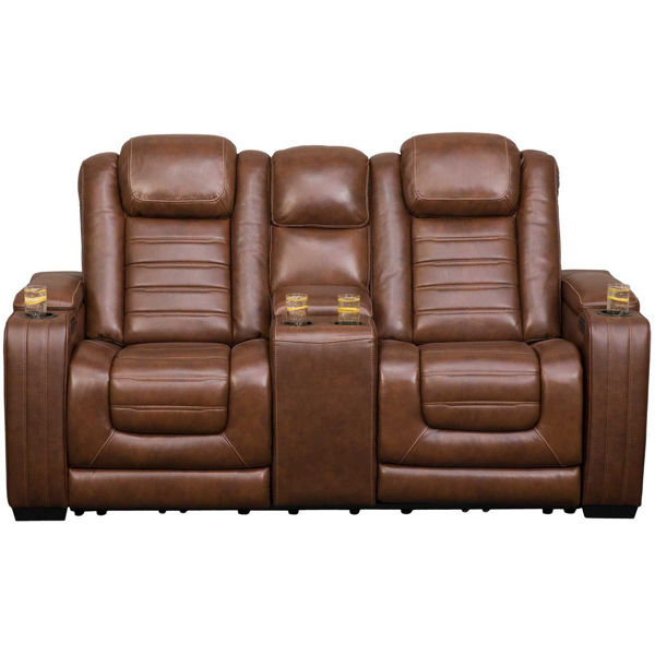 Picture of Backtrack P2 Reclining Console Loveseat