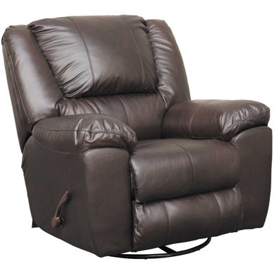 Picture of Italian Leather Swivel Glider Recliner