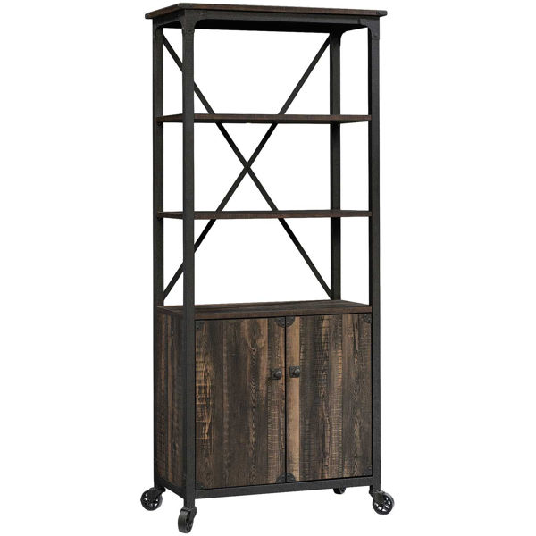 Picture of Steel River Pattern Bookcase With Doors