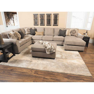 Picture of Taupe Armless Loveseat