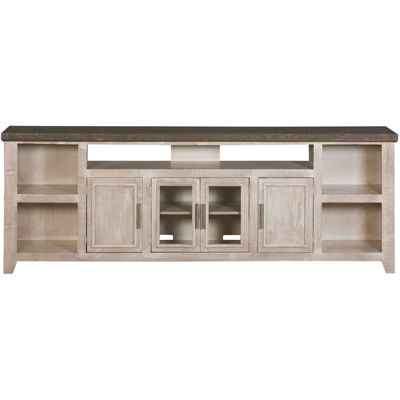 Picture of White 92-Inch Rustic TV Stand