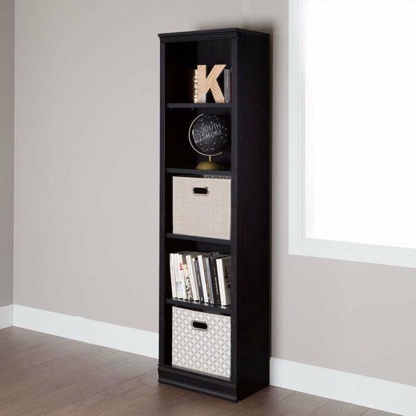 Picture of Morgan 5 Shelf Narrow Bookcase