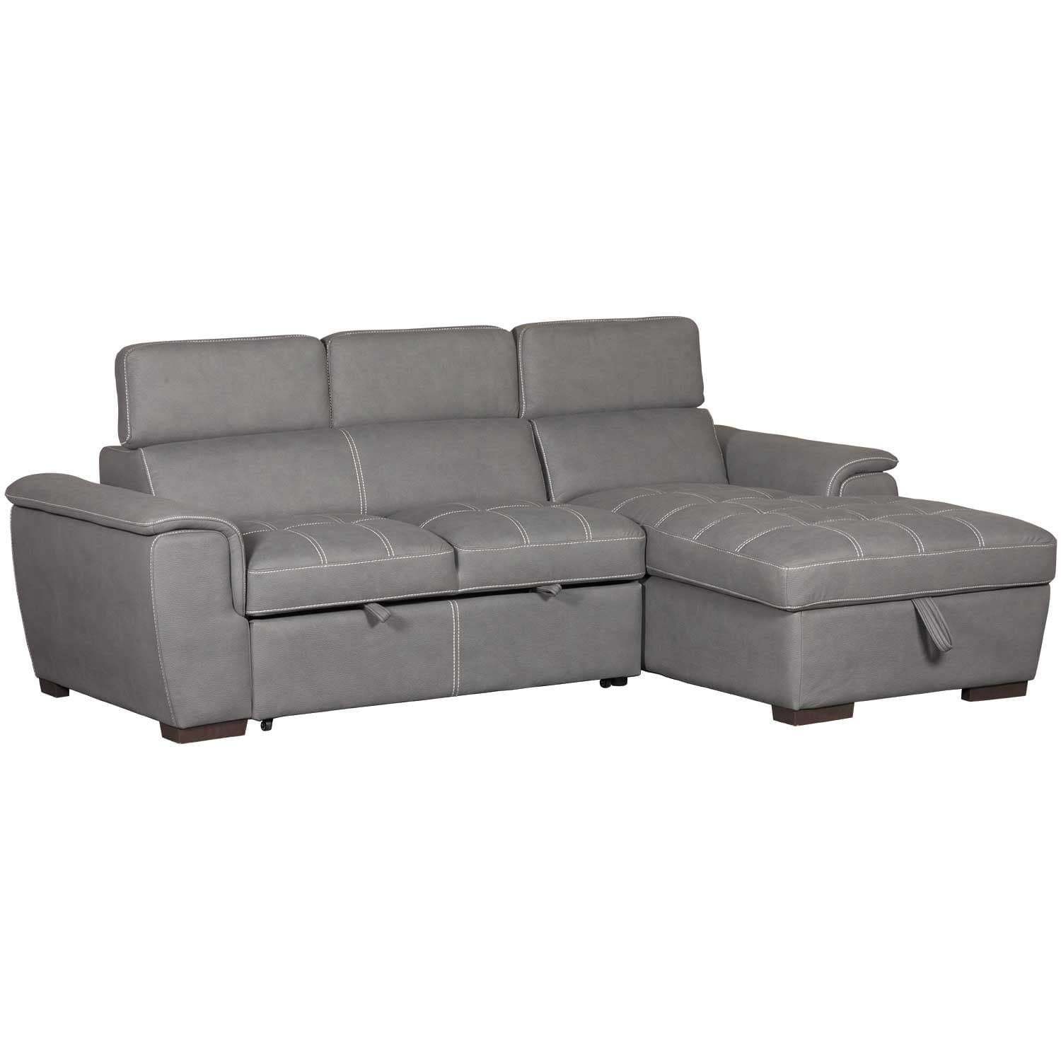 Levi 2 Piece Sectional with Pull Out Bed