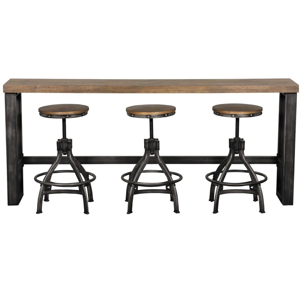 Chandler Sofa Bar Table and Adjustable Height Barstool
