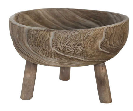 Grey Wood Bowl