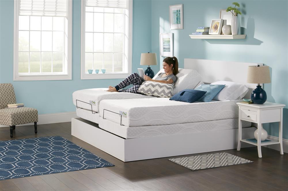 Adjustable base with mattress