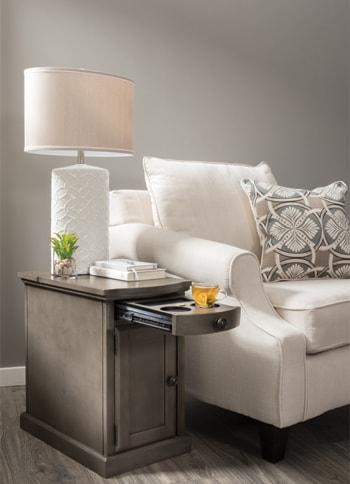 Laflorn Gray Chairside End Table