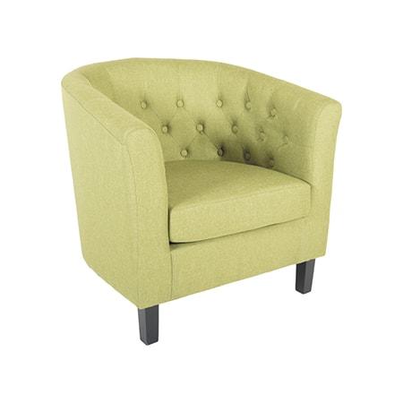 Mallory Green Tufted Tub Chair