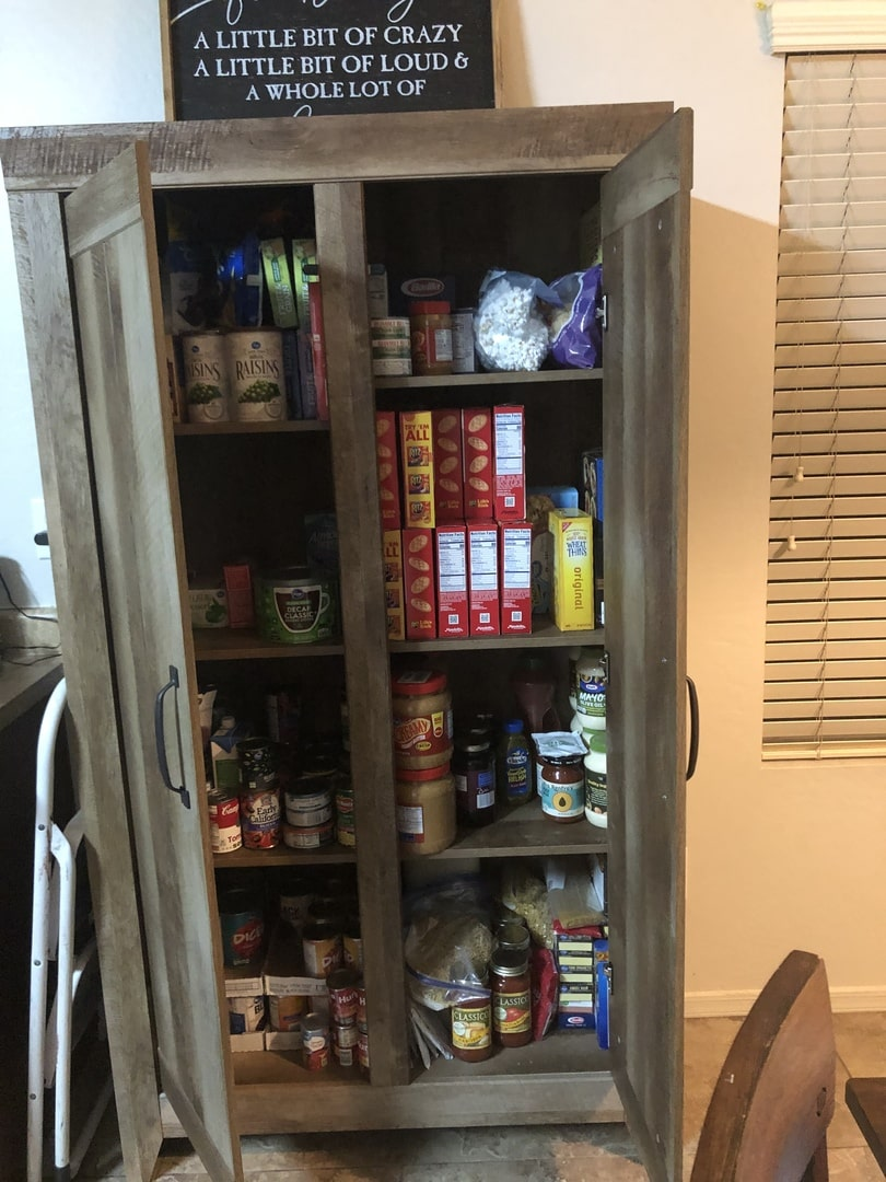 Adept Wide Storage Oak Cabinet